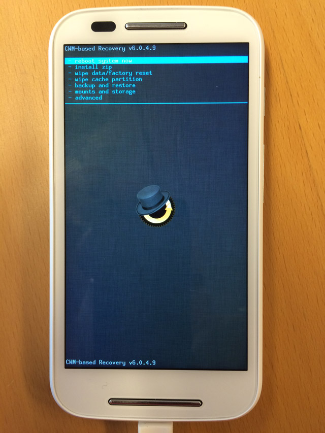 Rooting a Moto E XT1021 phone from an OS X 10 9 system to
